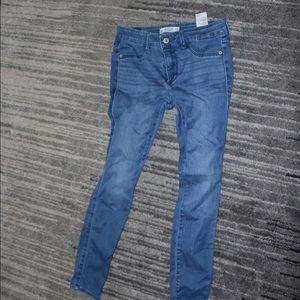 skinny jeans, blue jeans
